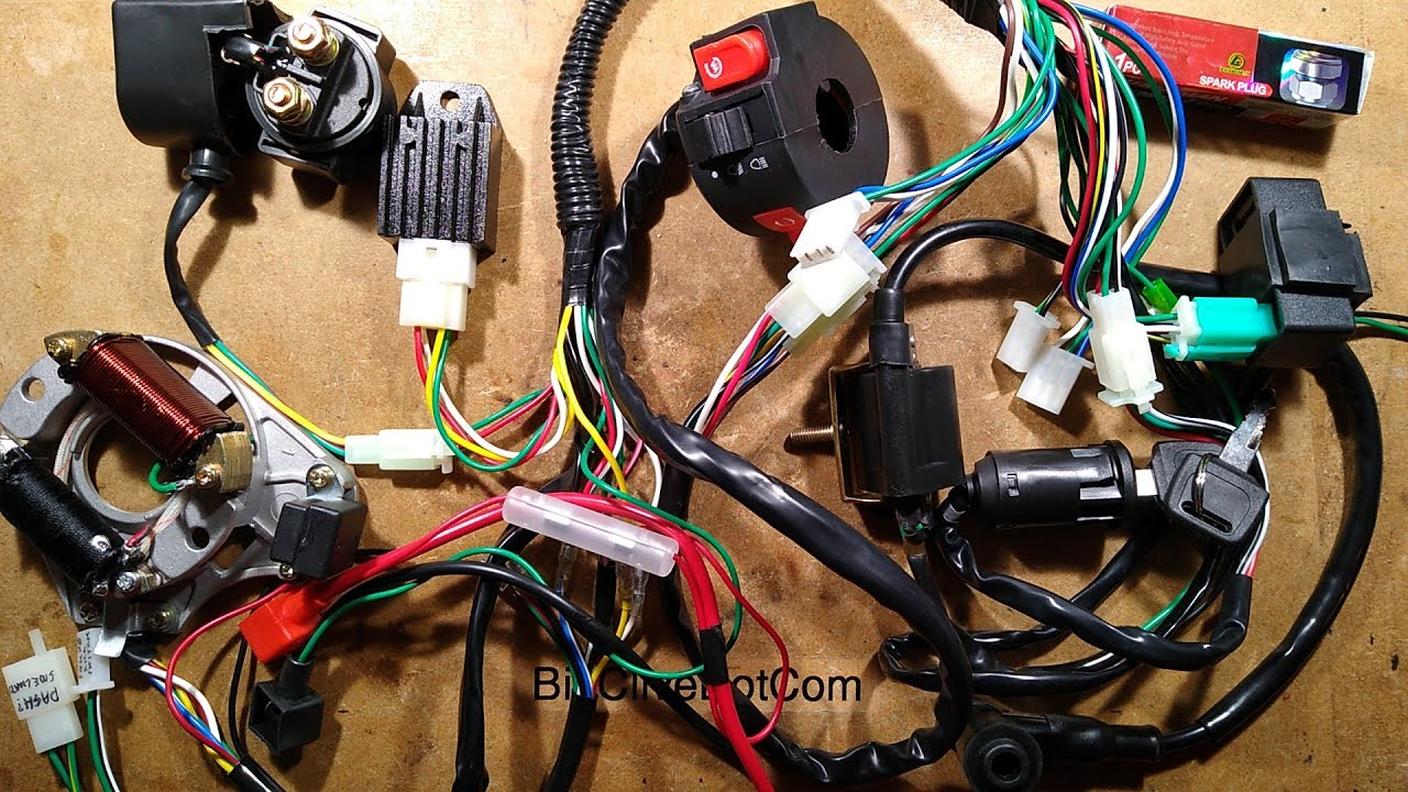 Exploring the wiring loom of a Chinese quad / scooter.