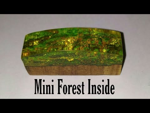 How to make DIY mini Forest Inside Diorama from Epoxy Resin and wood | Forest Inside | diorama