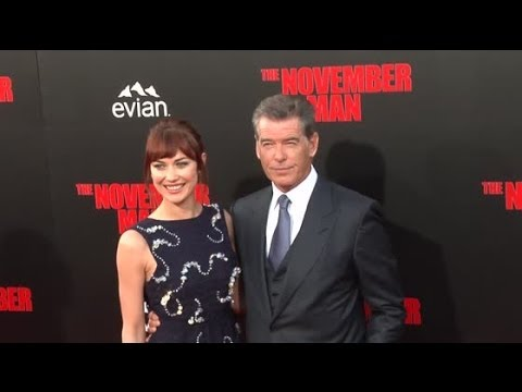 Pierce Brosnan And Olga Kurylenko Have A License To Look Hot For The November Man Premiere.