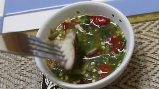 Thai Dipping Sauce for Meat. Thai Food Recipe for Dipping Sauce