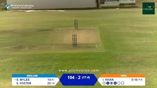 Over 50s Cricket World Cup | England vs India