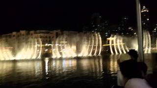 Dancing fountain Dubai. The Prayer - Céline Dion and Andrea Bocelli