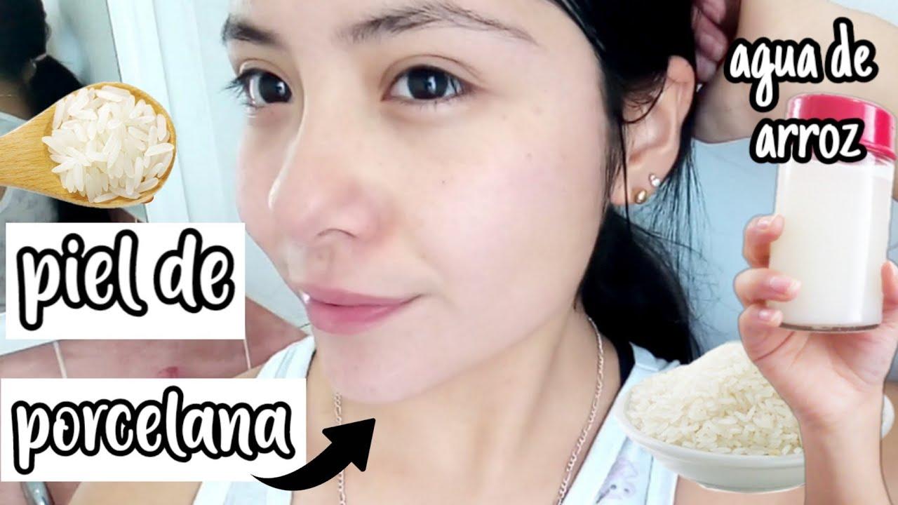 ventajas de lavarse la cara con agua de arroz