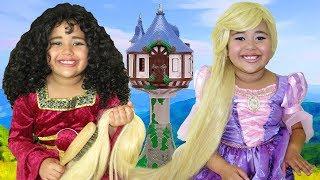 Disney Tangled Rapunzel and Mother Gothel Makeup Halloween Costumes and Toys