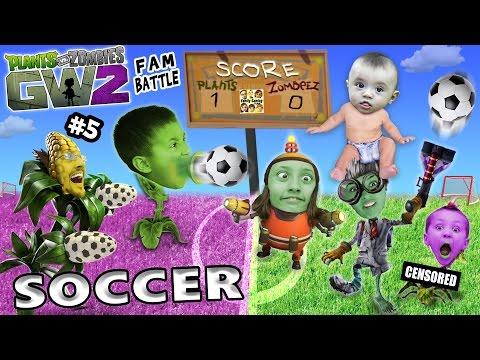 PVZ SOCCER FAMILY BATTLE! Lets Play Plants vs. Zombies Garden Warfare 2 #5 (FGTEEV FUN MINI-GAME!)