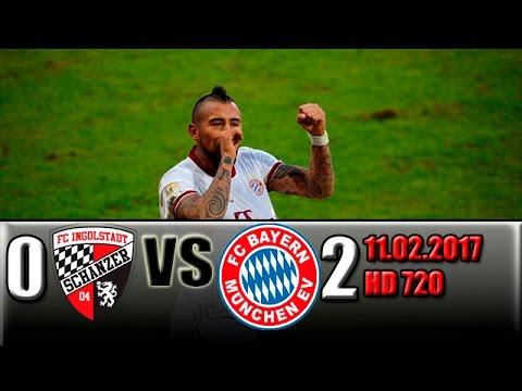 Ingolstadt 0-2 Bayern Munich All Goals and Highlights !!! 11.02.2017 HD