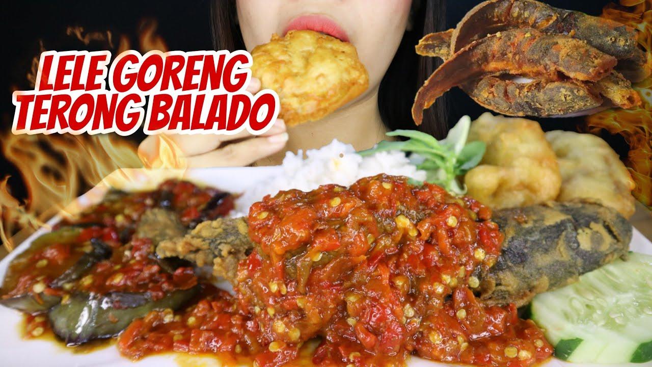 IKAN LELE SAMBAL TERONG BALADO 🐟🍆   asmr mukbang pedas Indonesia 🇮🇩
