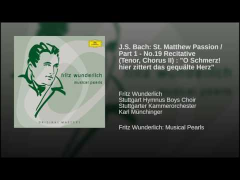J.S. Bach: St. Matthew Passion / Part 1 - No.19 Recitative (Tenor, Chorus II) :