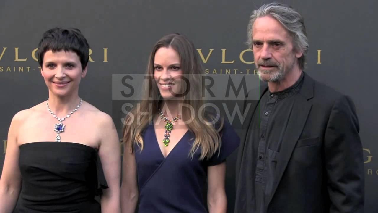 Photocall of Hilary Swank, Juliette Binoche and Jeremy ... Max Irons And Jeremy Irons