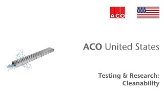ACO Building Drainage Cleaning Performance