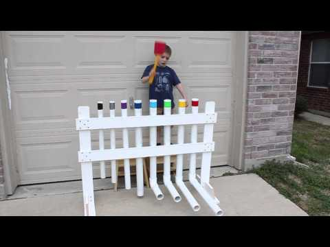 Xylophone Built out of PVC Pipe - YouTube