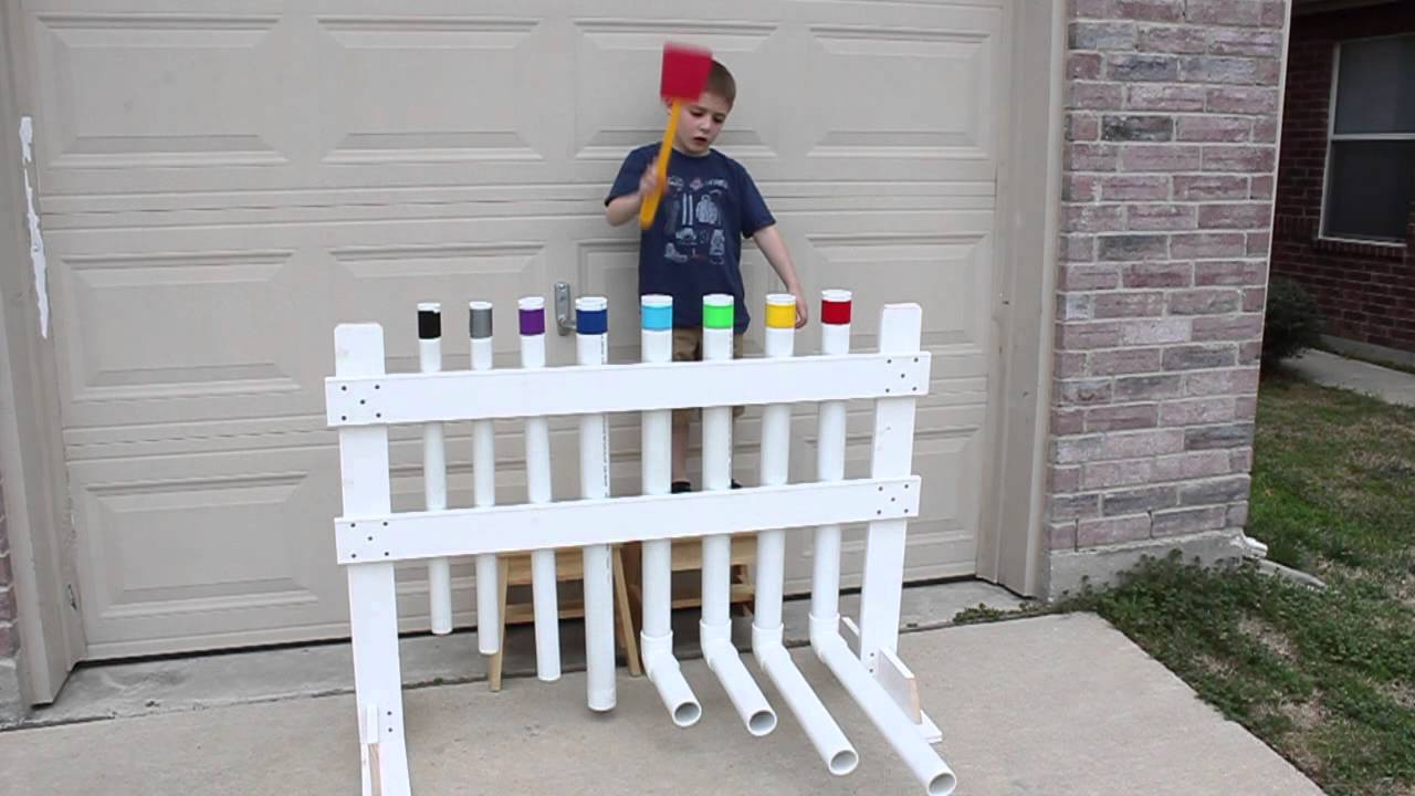 Xylophone built out of pvc pipe youtube - Objet en carton a faire soi meme ...