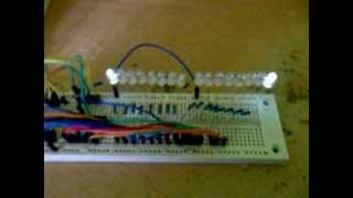 Logarithmic VU meter with ATmega8
