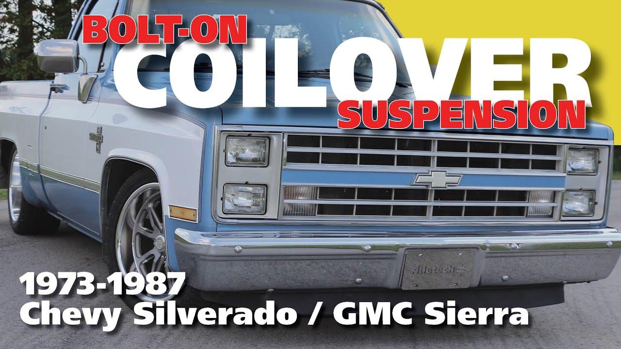 medium resolution of 73 87 c10 coilover suspension install full