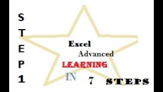 Excel Advanced Learning step 1 of 7 steps - Backstage View