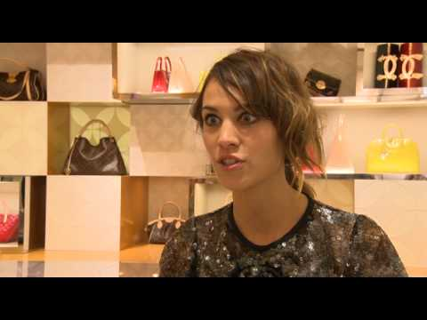 Alexa Chung talks at Louis Vuitton Maison Opening in London Bond Street