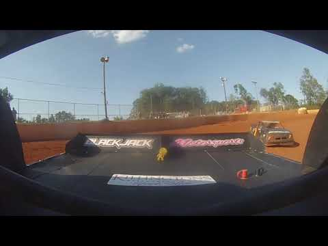 East Lincoln Speedway 8-31-19 Pro 4 Rear Cam Hot Laps Alexus Motes