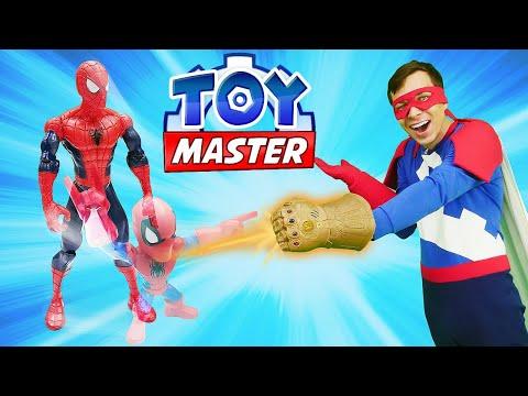 Человек Паук и Той Мастер - Супергерои стали маленькими! - Новое видео шоу для мальчиков .