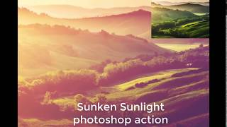 photoshop actions free download 2018 - Sunken Sunlight photoshop action