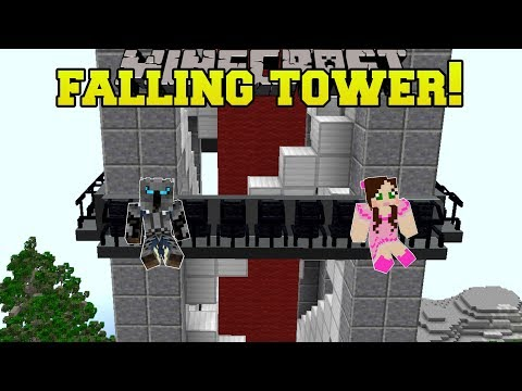 Minecraft: FALLING TOWER RIDE!!!  HERO FAIR 4