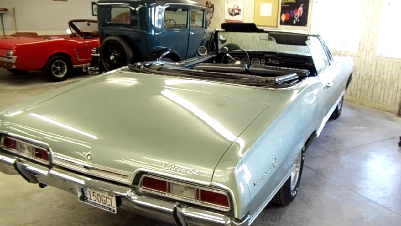 Convertible 1967 chevy impala convertible for sale : 1967 Chevy Impala Convertible - 327V8 and Factory Air - YouTube