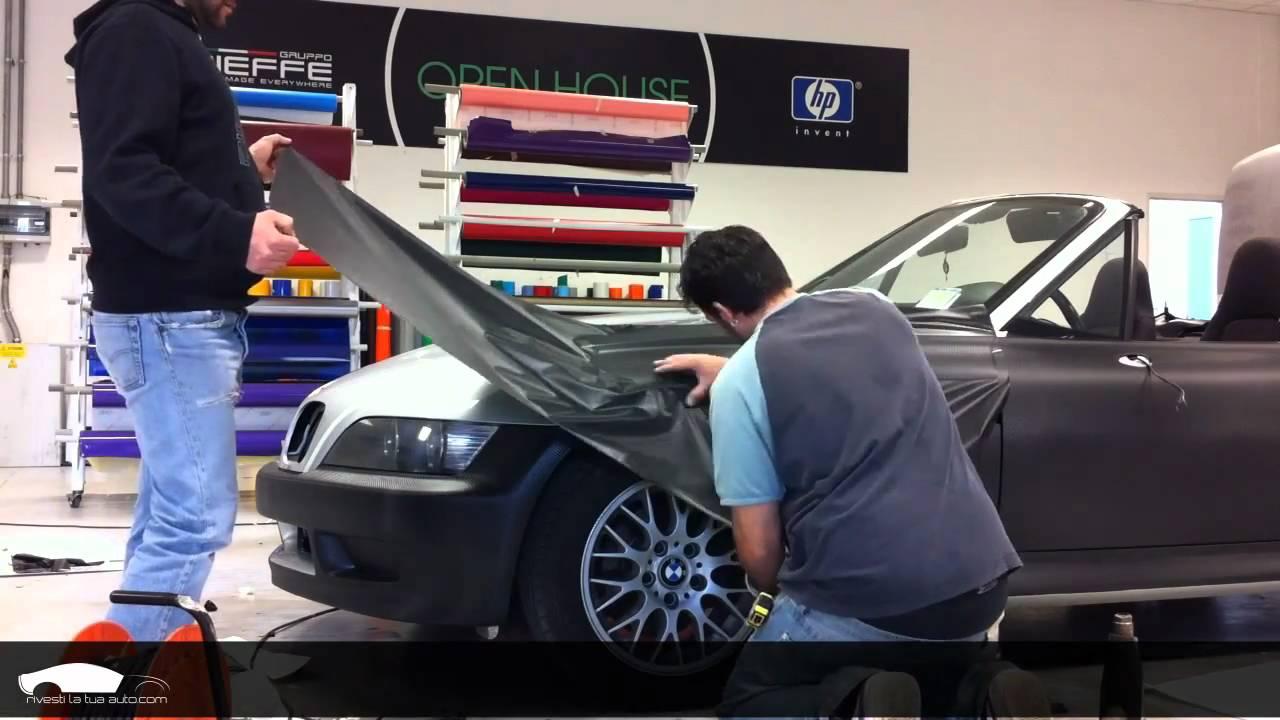 Car Wrapping Bmw Z3 Nero Opaco Youtube