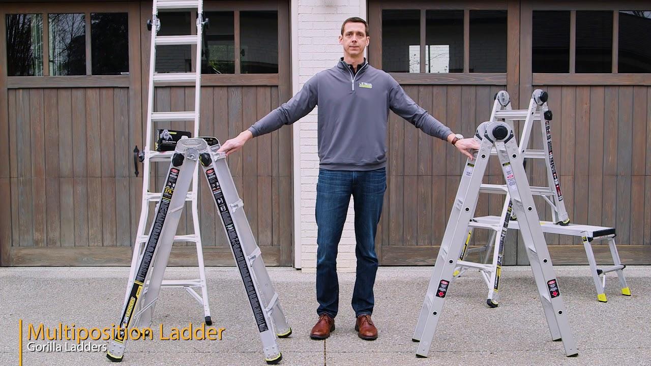 Gorilla Ladders MPX Aluminum Multi-Position Ladder