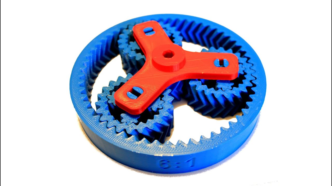 Planetary Gear Set >> 3d Printed planetary gear - YouTube