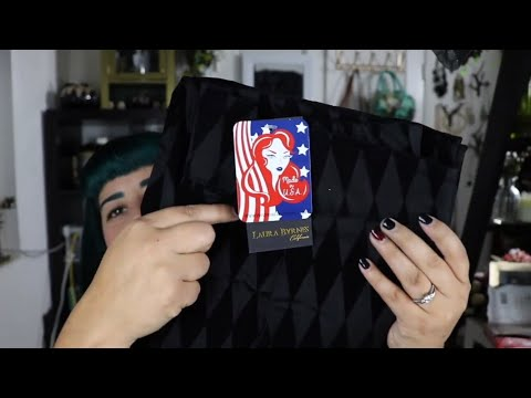 Unboxing And Review Of The Pinup Girl Clothing Long Trousers In Black Flocked Harlequin