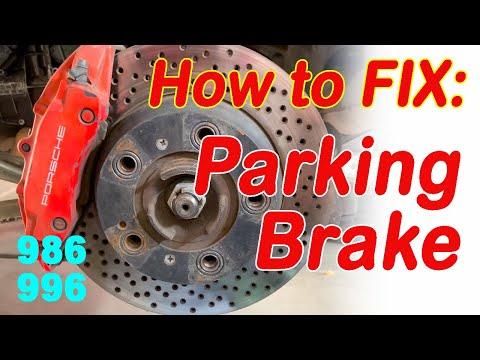 How to fix the parking brake on a Porsche Boxster 986 Carrera 911 996 Parking Brake Fix