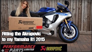 Fitting the Akrapovic to my Yamaha R1 2015 - Decat - Fly by