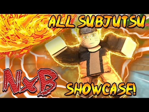 ALL SUBJUTSU SHOWCASE IN NARUTO RPG: BEYOND! (WHICH IS THE BEST?!)   [PART ONE]