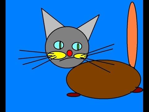 Как в paint нарисовать кота