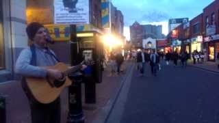 Lonely Boatman,Furey Brothers lighting up the streets of Dublin, Ireland