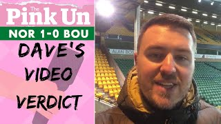 Norwich City 1 Bournemouth 0   David Freezer's Verdict