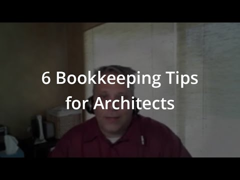 6 Bookkeeping Tips for Architects