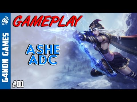 League of Legends - Ashe ADC Gameplay - Season 6 - #1 -  [PT-BR]