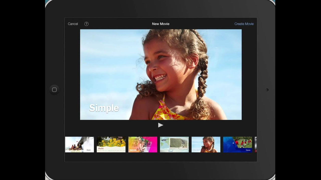 Choosing a Theme for iOS iMovie Project - YouTube