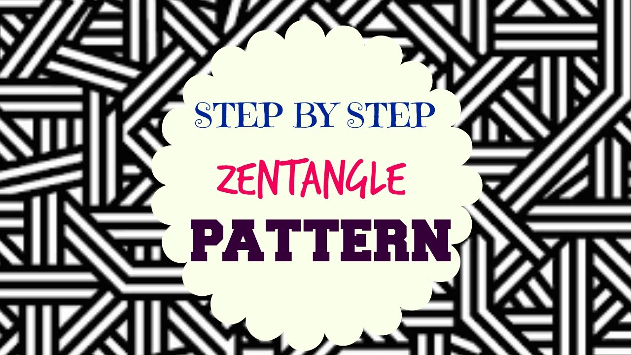 How to draw Zentangle Patterns   Step by Step Tutorial