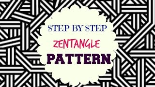 How to draw Zen-tangle Patterns - ♥ Step by Step Tutorial ♥