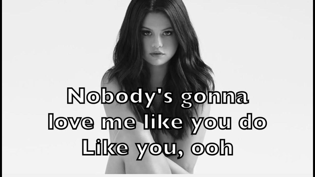 Selena gomez nobody минус