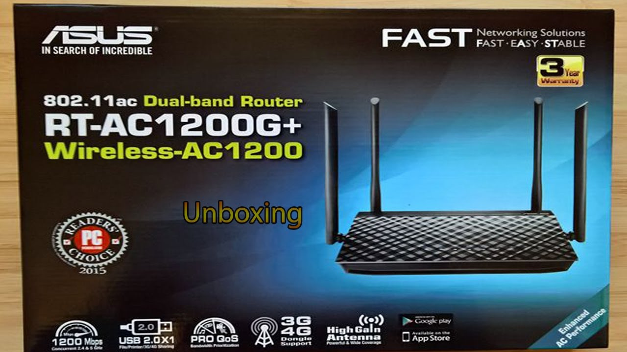 Unboxing Router Asus Ac1200g plus (4antene)