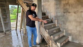 Casa 5x7video 12 Escalera de concreto desde cero