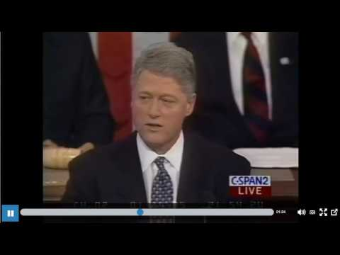Bill Clinton 1995 State of the Union immigration comments