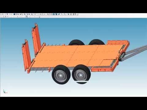 Прицеп для перевозки спецтехники 4 тонны Багем