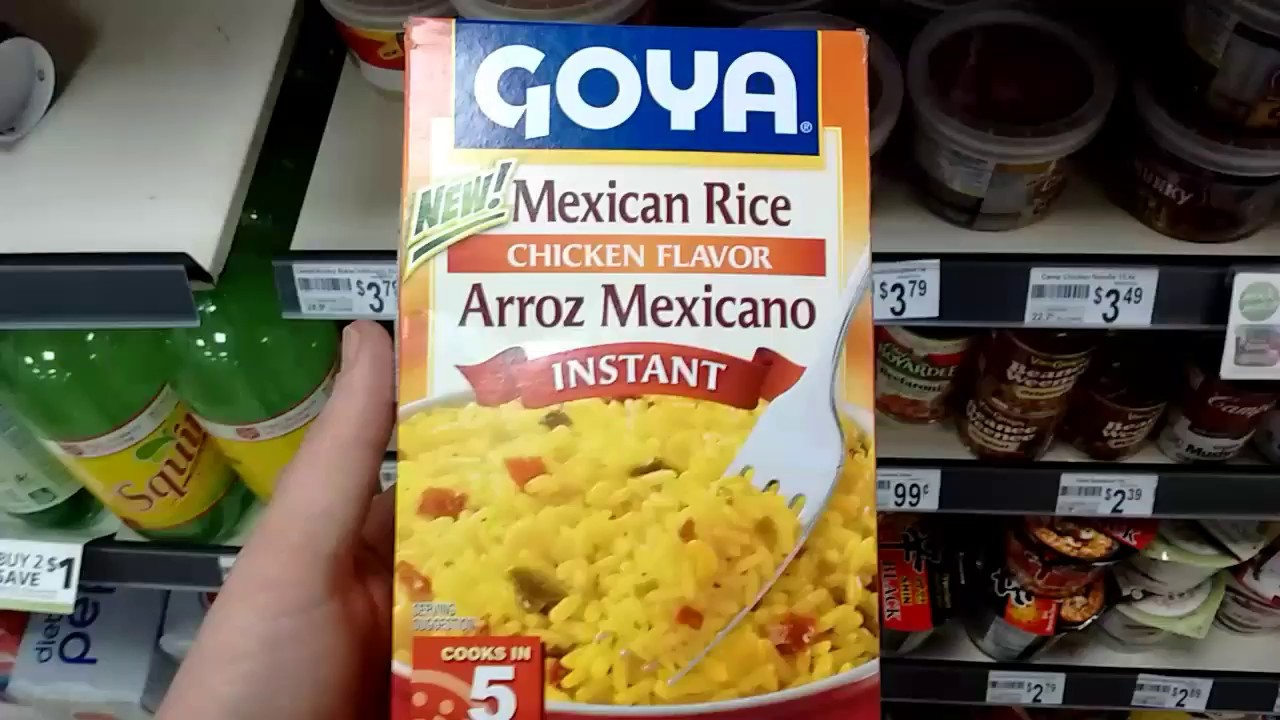Mexican Rice Chicken Flavor Goya Youtube