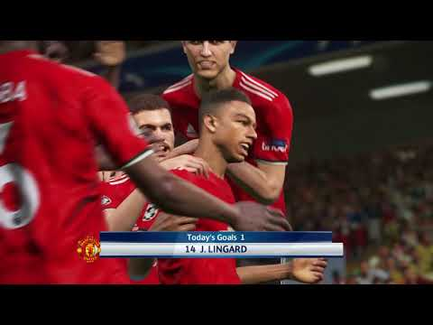 Sevilla vs Manchester United / UEFA Champions League 2018 / Gameplay PES 2018