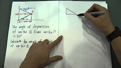 SPM Form 4- Maths Angle of Elevation and Depression