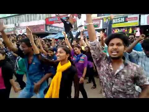 KVVS flash mob dance at adoor 2k15