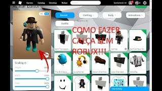 ROBLOX How to make your own pants (grace without BC and without Robux)
